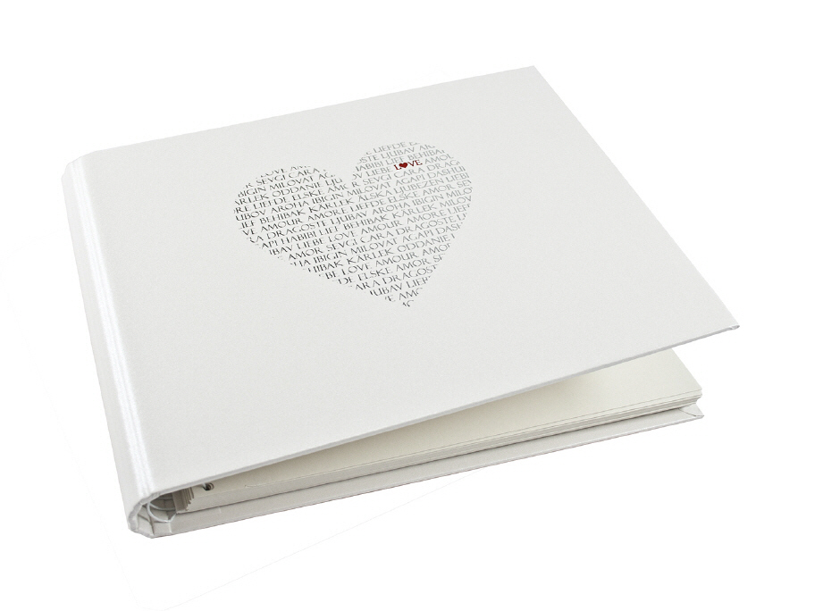 Guest book Love with spiral