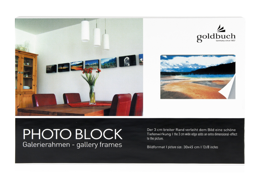Goldbuch_picture_frame_PHOTO_BLOCK_white_30/45