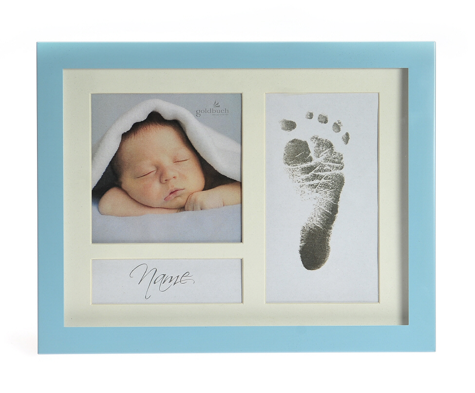Goldbuch_picture_frame_FIRST_STEPS_blue