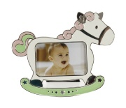 Picture frame HORSE pink 7/4,5