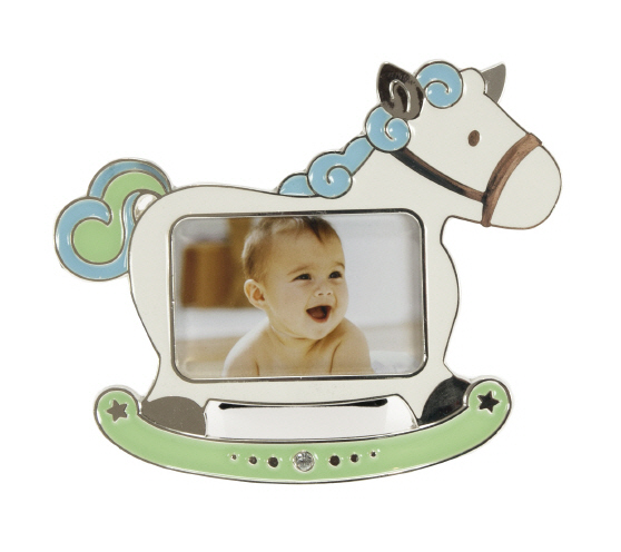 Picture frame HORSE blue 7/4,5