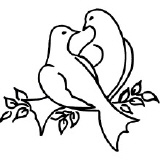 Rayher motif stamp Dove 6 x 6 cm