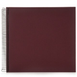 Spiral album Economy large burgundy