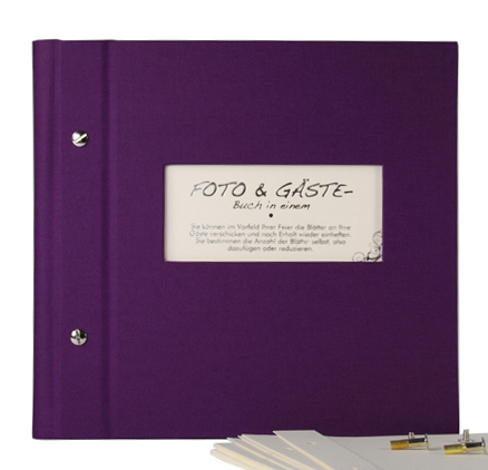 Photo album & guest book Vario 25/25 aubergine