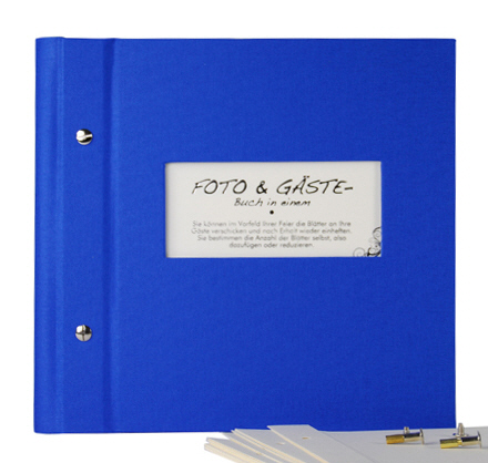 Photo album & guest book Vario 25/25 blue