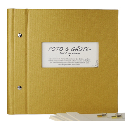 v. transehe guest book VARIO 25/25 gold