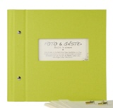 Photo album & guest book Vario 25/25 green