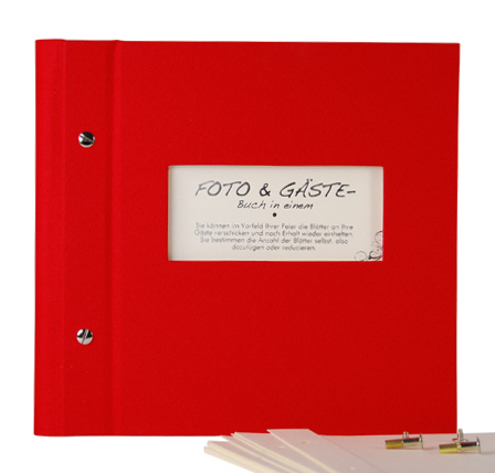 Photo album & guest book Vario 25/25 red